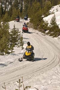 Snowmobile Fun by Power Sports Excitement